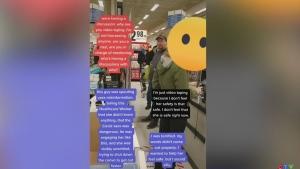 Video shows tense encounter at Langley store