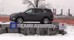 A Chevrolet Equinox is displayed in front of the CAMI Assembly plant in Ingersoll, Ont. on Monday, Jan. 18, 2021. (Brent Lale / CTV News)
