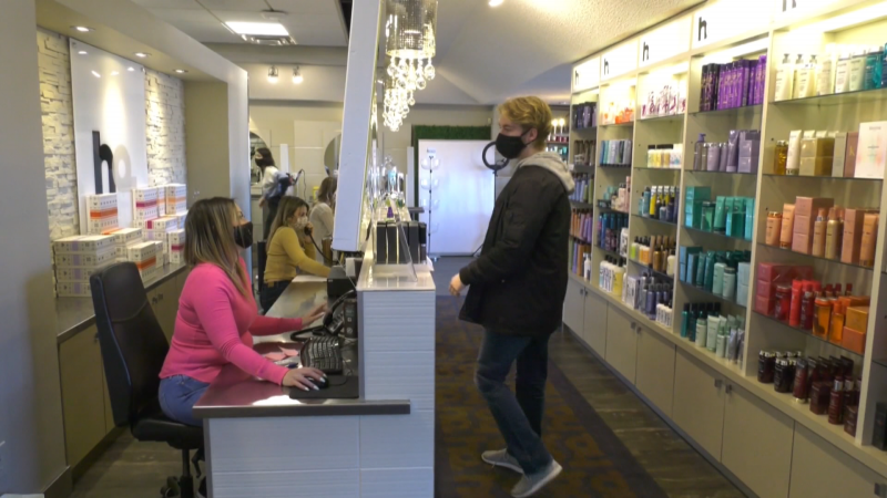 HQ salonspa. Jan. 18, 2021. (CTV News Edmonton)