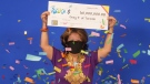Deng Pravatoudom, 57, is seen after winning the $60 million Lotto Max jackpot. (OLG)