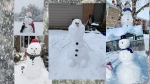 A collage of snowmen around Ottawa submitted but CTV Ottawa viewers.