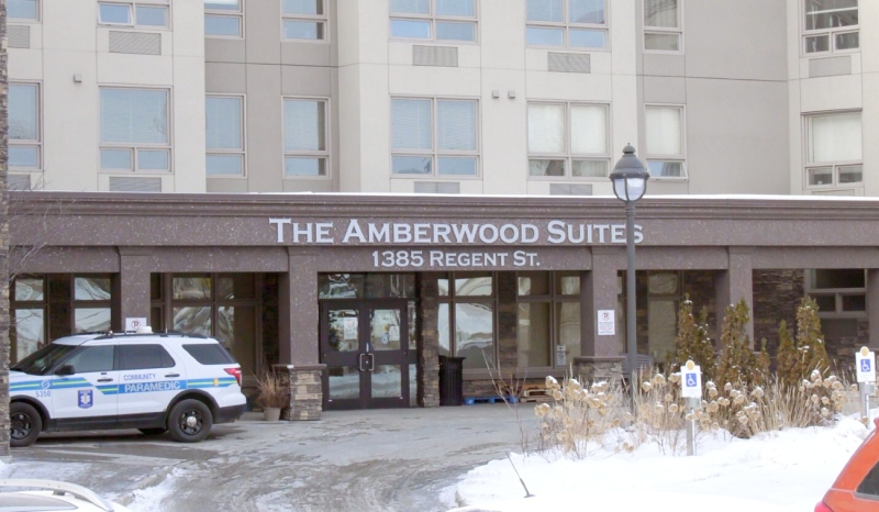 A Sudbury retirement home has marked its third death in as many days. Amberwood Suites Retirement Residence is still dealing with a COVID outbreak while health officials are working to contain the spread. (Ian Campbell/CTV News)