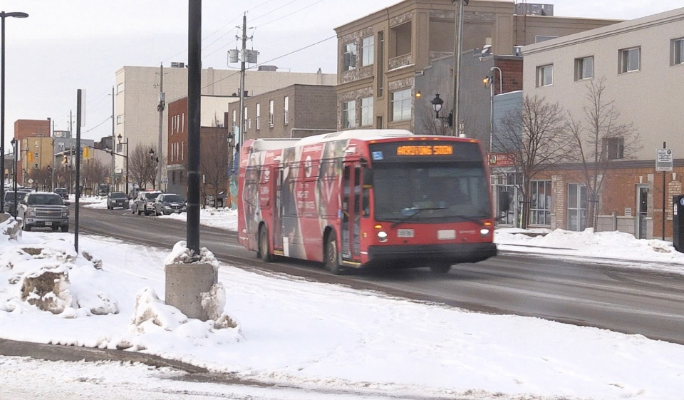 North Bay is launching a one-year pilot project with Via Software to start a 'dynamic dispatching system' for its public transit. Riders can download a smartphone app and, with a push of a button, riders can book a bus ride to get to their destination. (Eric Taschner/CTV News)