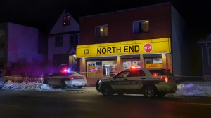 Winnipeg police are investigating a shooting that occurred in the North End on Jan. 18, 2021. (Source: Dan Timmerman/ CTV News Winnipeg)