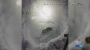 Lost teen builds snow cave to survive