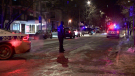 With several residential buildings in the area, investigators are working to determine whether the incident happened inside or outside. (Cosmo Santamaria, CTV News)
