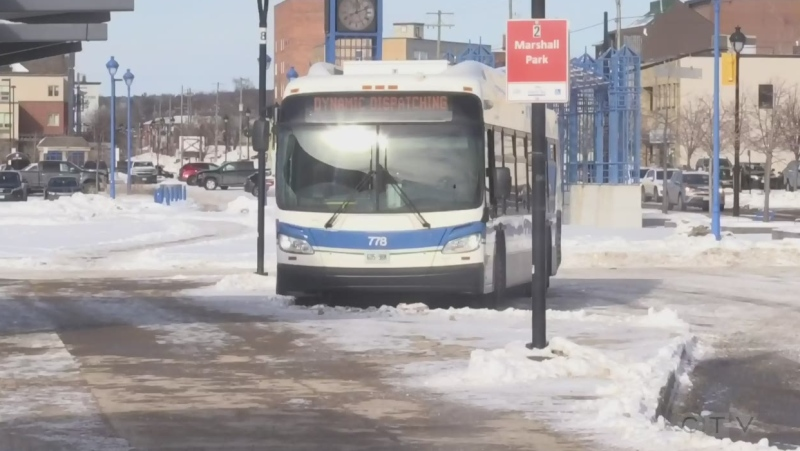 City of North Bay bus. Jan. 18/21 (Eric Taschner/CTV Northern Ontario)