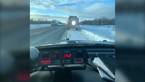 James Bay OPP nab alleged stunt driver on Hwy 11 for going 142 km/h in a 90 km/h zone. (Supplied)