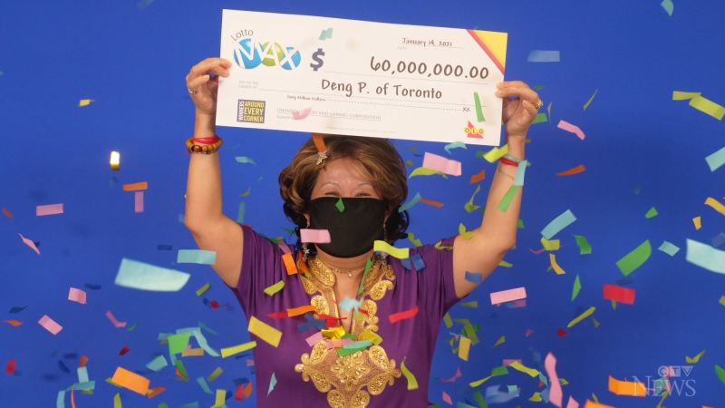 A Toronto woman says the numbers she used to win a $60M lottery jackpot came to her husband in a dream two decades ago.