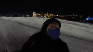 Tubing at the Edmonton Ski Club, January 2021