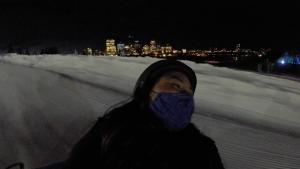 Tubing at the Edmonton Ski Club, January 2021