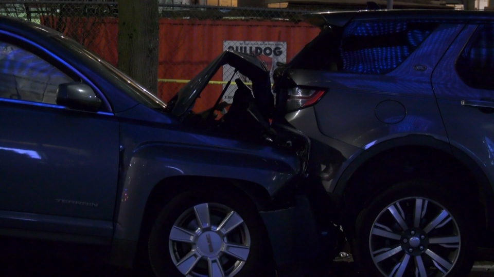 Police in Vancouver are recommending charges after a driver caused a chain-reaction crash of parked cars on Jan. 18, 2021.