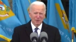 Biden gives emotional speech before heading to D.C