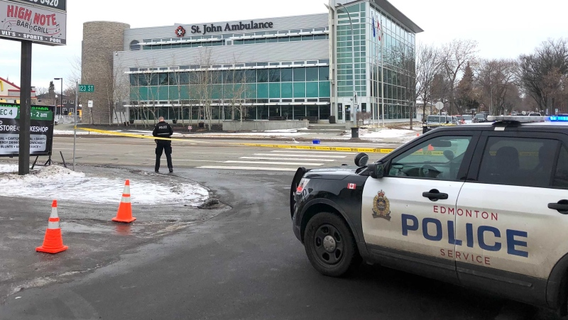 A man was struck by a van in a crosswalk at 124 Street and 118 Avenue on Jan. 19, 2020.
