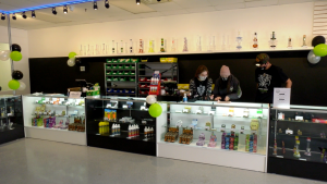Living Skies Cannabis opened its third location on Fairlight Drive on Monday. (Chad Hills/CTV Saskatoon)