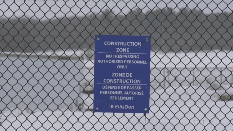 Hydro One expansion in Orillia, Ont. (Lexy Benedict/CTV News)