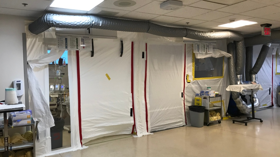 An inside look of the ICU unit at Windsor Regional Hospital in Windsor, Ont. on Tuesday, Jan. 19, 2020. (Michelle Maluske/CTV Windsor)