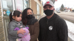 Sam Dalupang and his wife Tina and daughter Mila bought and delivered lunches to recently reopened businesses in Leduc on Jan. 19, 2021. A month earlier, the owner of 9 Round Fitness maxed out his credit cards supporting local.