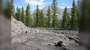 Alberta Environment has pointed out that the raw data on coal contamination has always been public and said the province would soon release its own report on water downstream of coal mines. (File photo: Coal exploration just south of the Oldman River, courtesy Alistair Des Moulins/Alberta Hiking Association)