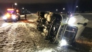 Wind topples semi, Jan. 19