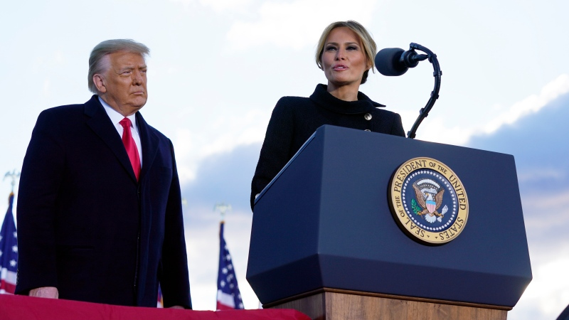 Watch: Melania Trump's remarks after leaving White House