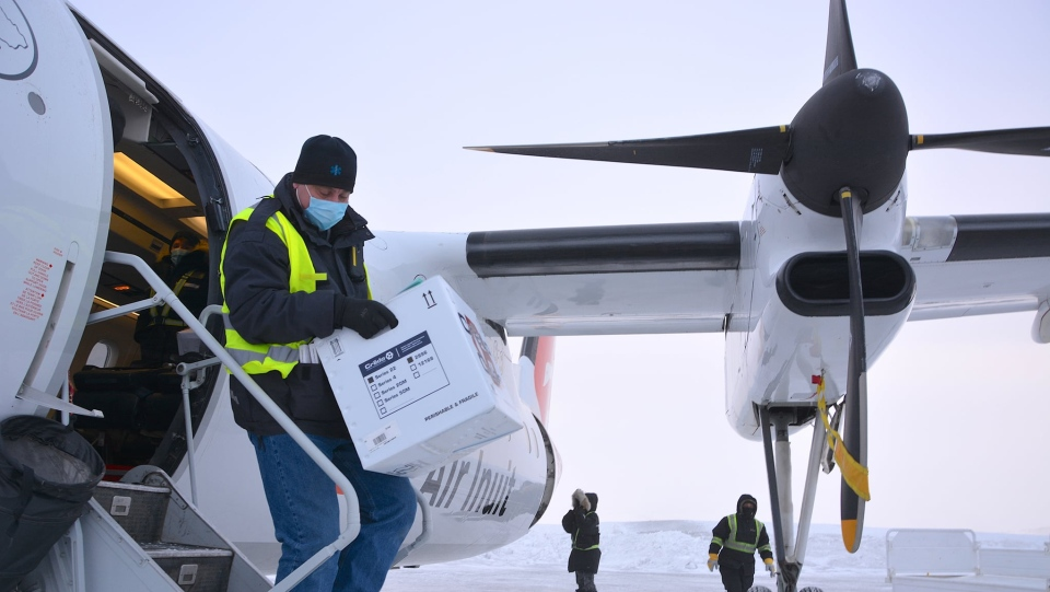 The Moderna vaccination delivery campaign began this week in Nunavik. SOURCE: NRBHSS/Facebook