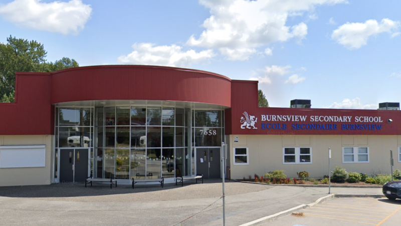 Burnsview Secondary School in Delta, B.C. (Google Maps)