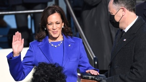 Kamala Harris sworn in as U.S. vice-president