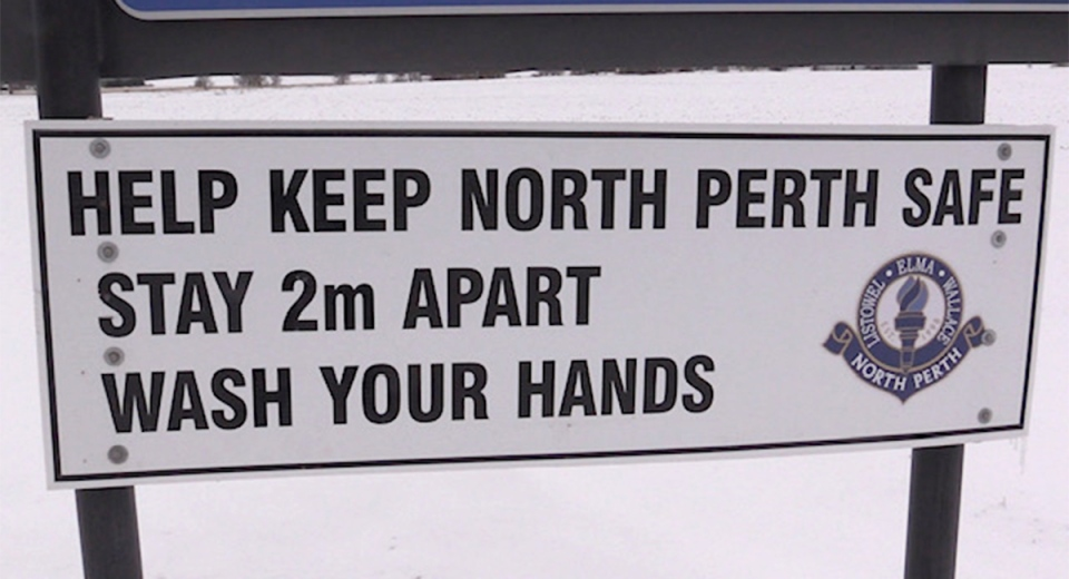 Keep North Perth Safe sign