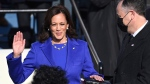 Kamala Harris is sworn in as vice president by Supreme Court Justice Sonia Sotomayor as her husband Doug Emhoff holds the Bible during the 59th Presidential Inauguration at the U.S. Capitol in Washington, Wednesday, Jan. 20, 2021. (Saul Loeb(Saul Loeb/Pool Photo via AP)
