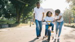 A family is shown in this stock image. (Pexels)