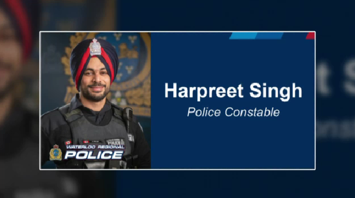 First sworn WRPS officer to wear turban