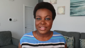 Marina lyeme-Eteng hosts a YouTube series helping newcomers adapt to Canada. (YouTube)