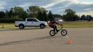Max Ganakovsky set a new world record for the longest manual on a bicycle in August, which has now been recognized by Guinness World Records. (Courtesy Igor Ganakovsky)
