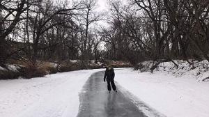 Skating the Carman river trail. Photo by Neil Martin.