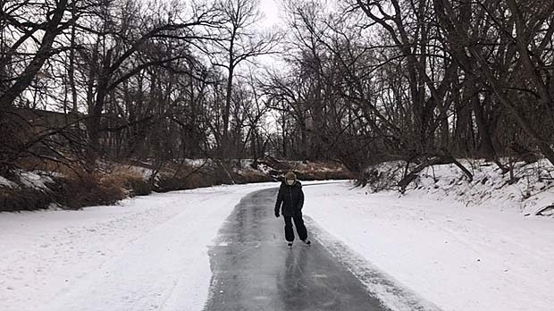 Skating the Carman river trail. Photo by Neil Martin.