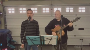 Folk duo from Levack performs Bob Dylan classic