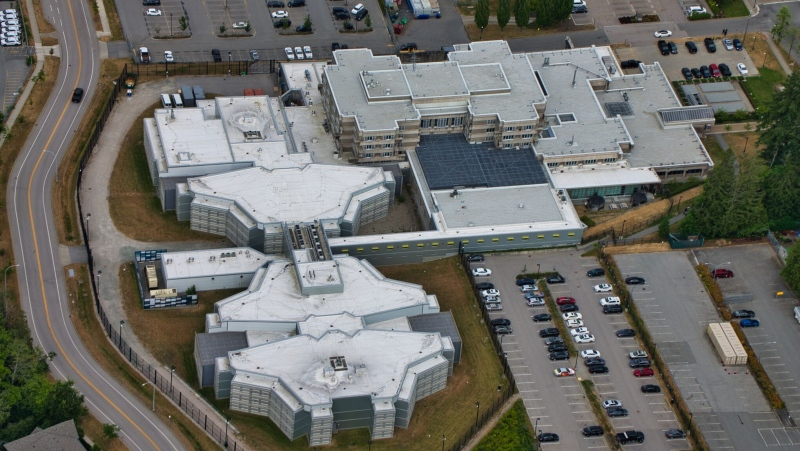 The Surrey Pretrial Services Centre is pictured from above in this 2019 photo.