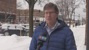 Collingwood Mayor Brian Saunderson announces his intention to fill the conservative seat for Simcoe-Grey on Wed., Jan. 20, 2021 (Roger Klein/CTV News)