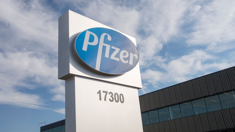 The corporate headquarters of Pfizer Canada are seen Monday, November 9, 2020 in Montreal.THE CANADIAN PRESS/Ryan Remiorz