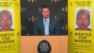 Calgary police are offering a large reward for information about a murder suspect. Bill Macfarlane reports
