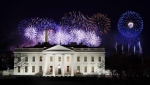 Fireworks are displayed over the White House as part of Inauguration Day ceremonies for U.S. President Joe Biden and Vice President Kamala Harris, Wednesday, Jan. 20, 2021, in Washington. (AP Photo/David J. Phillip)