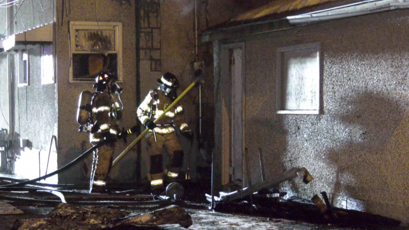 Firefighters were called to the area of 95 Street and 110 Avenue around 9 p.m. on Wednesday.