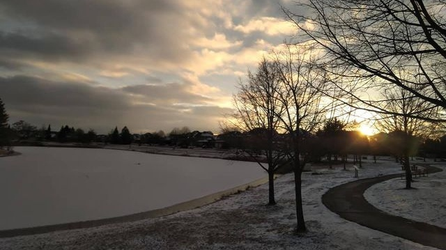 A light dusting of snow in Windsor-Essex on Jan. 20, 2021. (Courtesy Lira Sykja Okaj)
