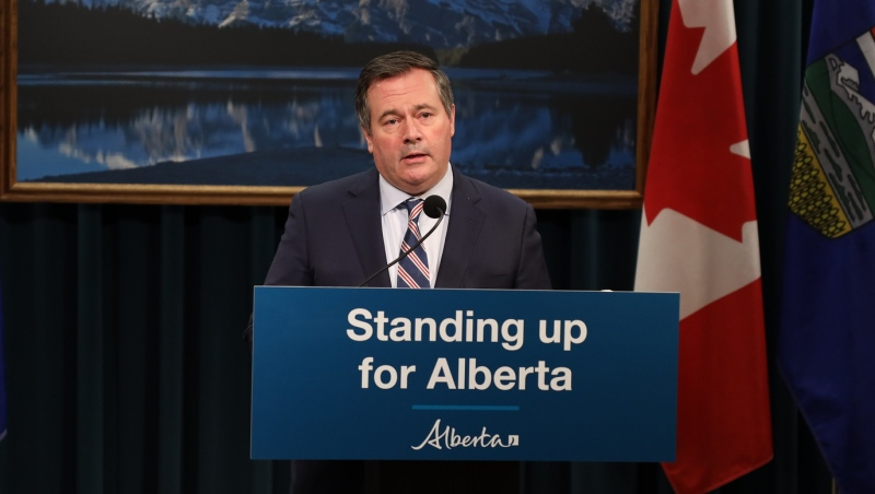 Premier Jason Kenney responded to the cancellation of the Keystone XL expansion project on Jan. 20, 2021.