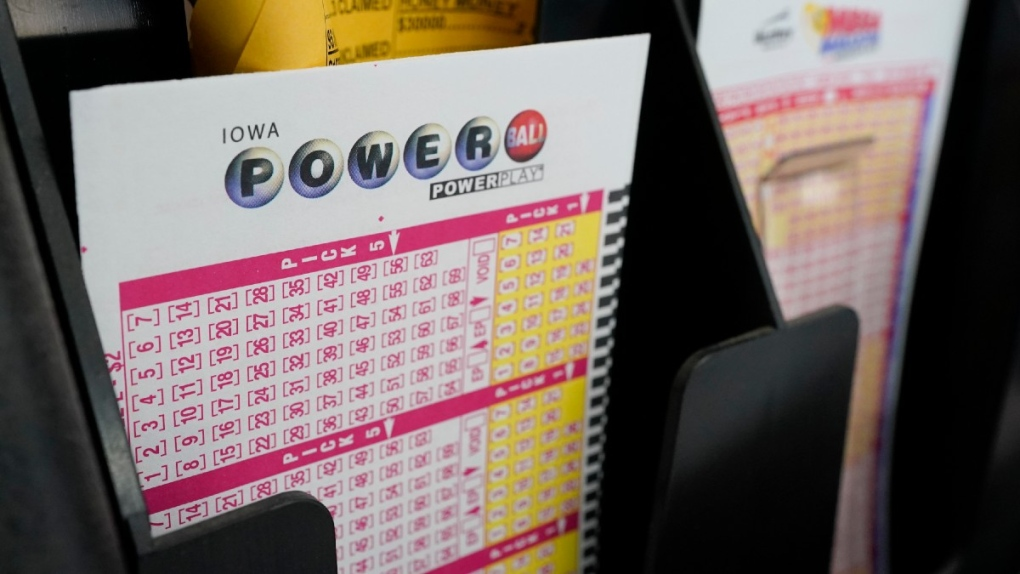 Blank forms for the Powerball lottery