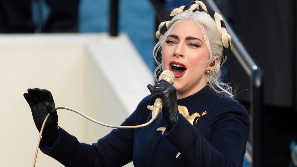 Did Lady Gaga's inauguration brooch evoke The Hunger Games' mockingjay pin?