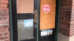 One of 14 businesses that was damaged late Tuesday night is shown: (CTV News)