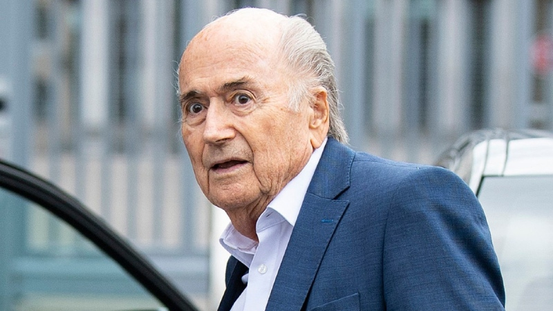 Former FIFA President Sepp Blatter at the Office of the Attorney General of Switzerland, in Bern, Switzerland, on Sept. 1, 2020. (Peter Schneider / Keystone via AP, FIle)
