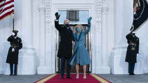 U.S. President Joe Biden (pictured January 20, 2021 with his wife First Lady Jill Biden) may have to change up his workout routine now that he lives in the White House. (AFP)